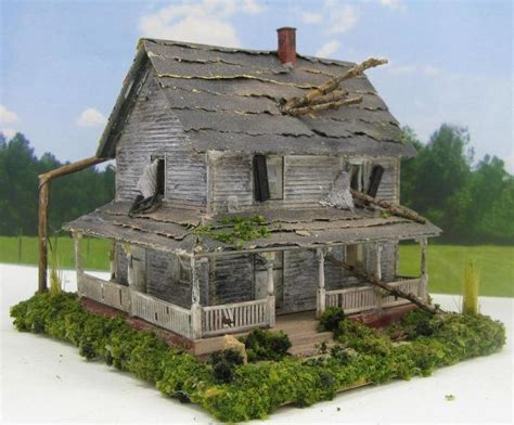 diorama house haunted house abandoned house miniature 1 87 ho scale