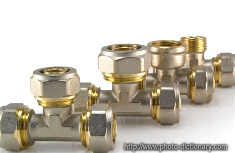 plumbing fittings photo picture definition at photo