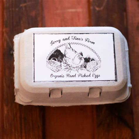 custom personalized egg carton labels chicken coop supplies