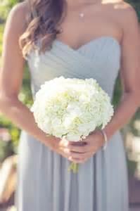 White hydrangea bridesmaid bouquet wedding pinterest