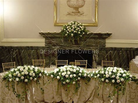 Wedding Flower Displays by Wedding Top Table Displays From Designer Flowers Mesa De