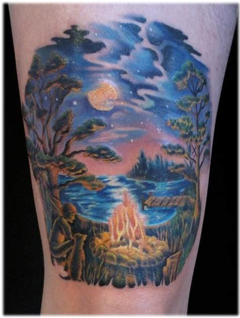 night time tattoo inspiration time c thigh