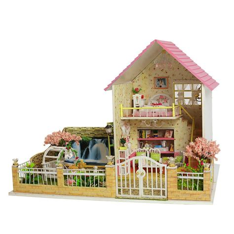 unique doll house new assembling diy miniature model kit wooden doll house