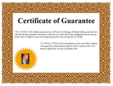 certificate of guarantee template guarantee or guaranty definition