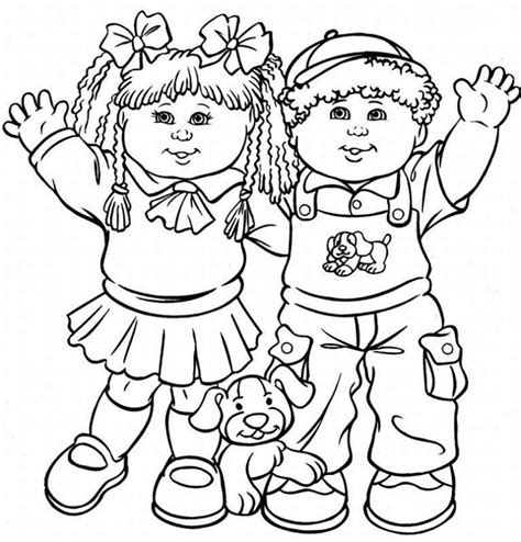 Cabbage Patch Kids Coloring Pages Learn To Coloring Coloring Pages For Kid