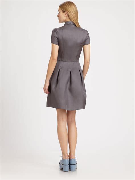 Rr716545 Dress Grey Collar jil sander navy silk mini collar dress in gray grey lyst