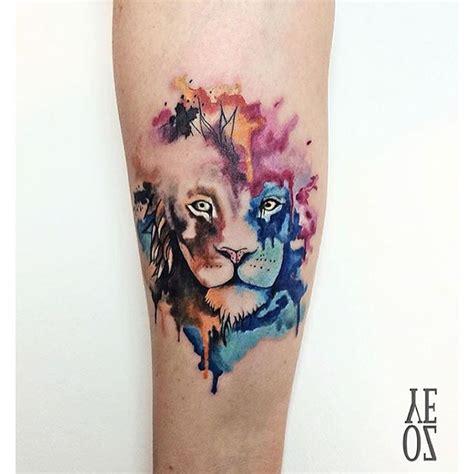 tattoo instagram ink watercolor lion tattoo ink on instagram