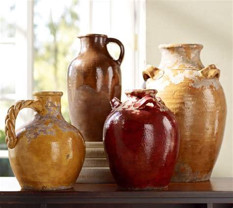 decorating pottery sicily terra cotta vases pottery barn
