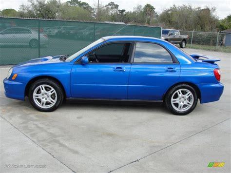 subaru sedan 2002 wr blue pearl 2002 subaru impreza wrx sedan exterior photo