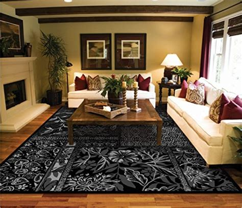 Living Room Silver Carpet Black Silver Grey Modern 8 215 11 Area Rugs For Living Room