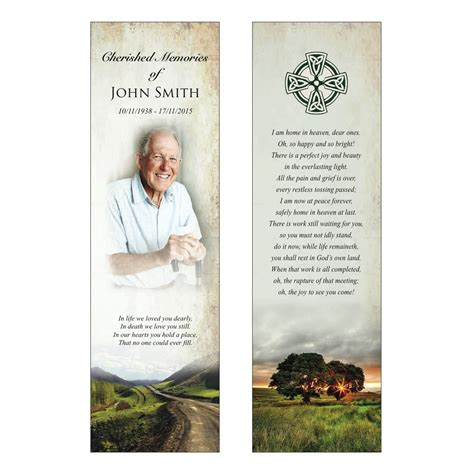 Celtic Funeral Card Free Templates by Celtic Memorial Bookmark Code Bmi003 Island