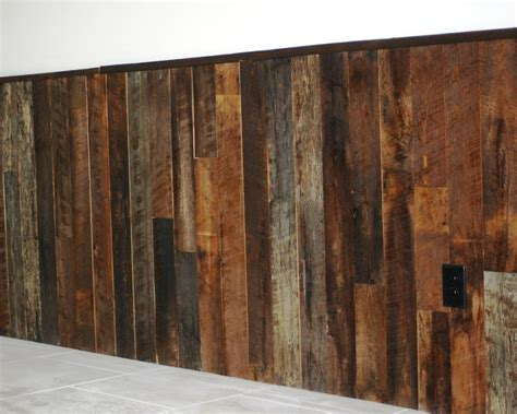 Wood Wainscotting by Reclaimed Pallet Wood Wainscoting Decorative Repurposed
