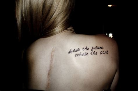 inhale the future exhale the past tattoo quotes quotesgram