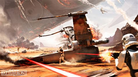 star wars battles concept art get a first glimpse of the battle of jakku in star wars