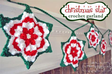 free crochet pattern for christmas tree garland christmas crochet garland patterns free a listly list