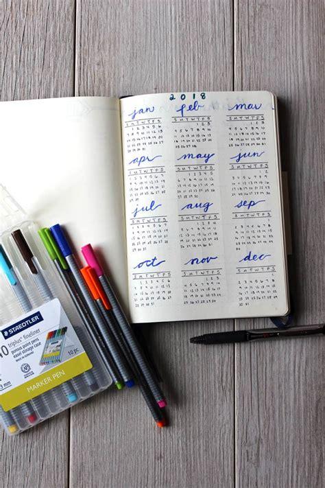 year at a glance 2018 calendar maxcalendars pinterest bullet