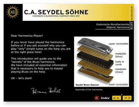 Harmonika By Gshop Edukatif Store soundcheck vol 1 blues beginner pack c a seydel s 214 hne