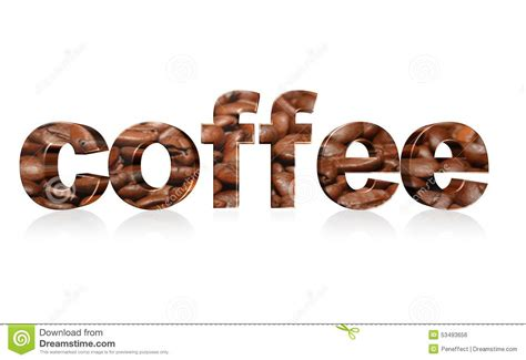 coffee text wallpaper coffee text illustration design over white stock