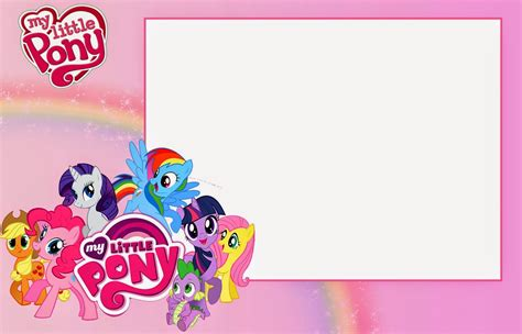 printable birthday card my little pony my little pony party free printable invitations oh my