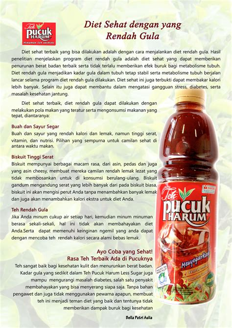 Teh Pucuk Harum advertorial copy writing class ad brand club