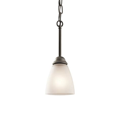 Cottage Pendant Lighting Shop Kichler Lighting 4 75 In Olde Bronze Country Cottage Hardwired Mini Etched Glass Cone