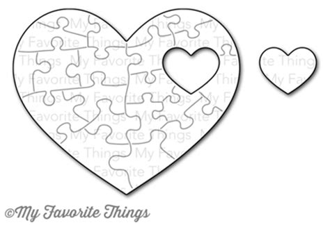 printable heart puzzle template the day is finally here our january release is so close