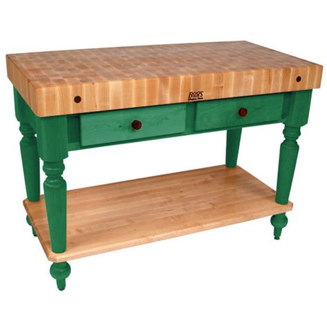 kitchen work table with shelves boos kitchen island work tables 48 cucina rustica