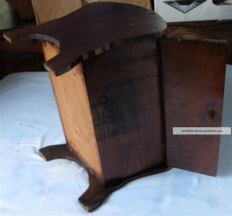 vintage wood sewing storage box flip top  lids mending