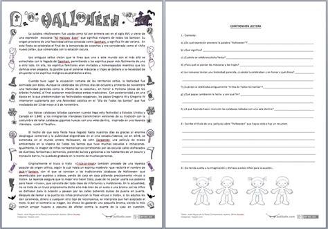 juego de preguntas para halloween halloween comprensi 211 n lectora actiludis pinterest