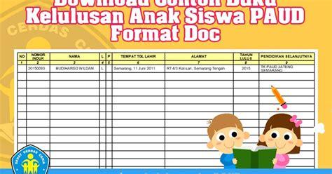 contoh layout buku anak download contoh buku kelulusan anak siswa paud format doc