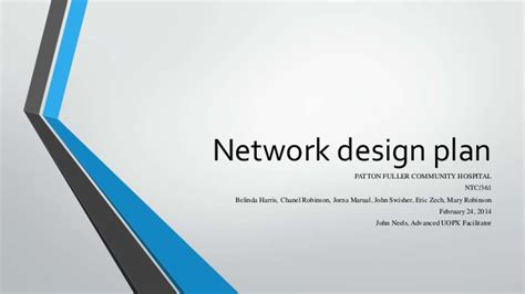 powerpoint design hospital network design ppt presentation 1 1 4 uopx team a