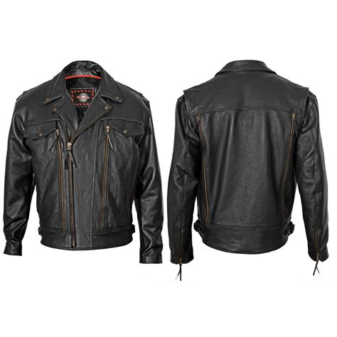 s classic style leather motorcycle jacket by milwaukee