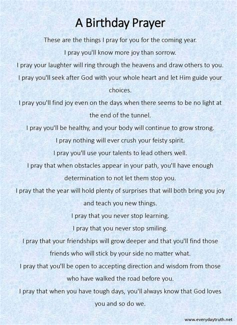 My Birthday Prayer Quotes 25 Best Ideas About Birthday Prayer On Pinterest Prayer