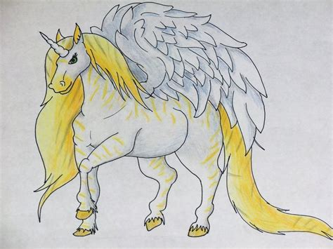 Drawing Unicorns by How To Draw Unicorn Wing
