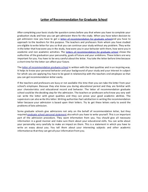 Recommendation Letter For Education Graduate School Letter Of Recommendation For Graduate School 38