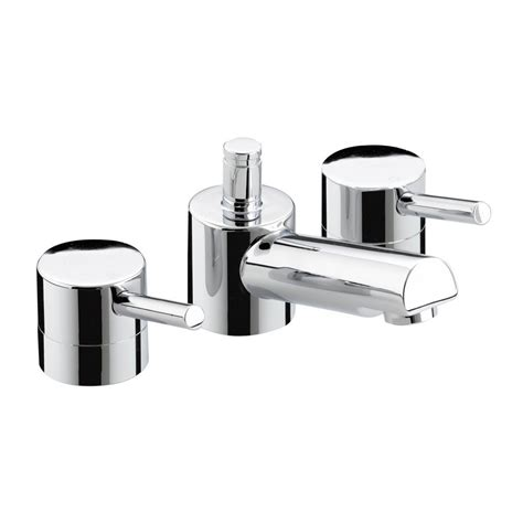 prism 3 tap hole basin mixer with puw pm3hbasc chrome plated