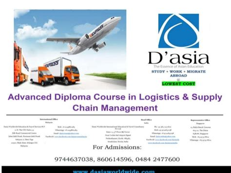 After Mba In Logistics And Supply Chain Management by Advanced Diploma Course In Logistics Supply Chain