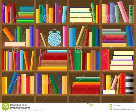 Antique Bookcase Vettore Di Legno Dello Scaffale Per Libri Illustrazione