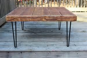 Rustic Coffee Table Legs Rustic Coffee Table Industrial Hairpin Legs By Reclaimedwoodusa