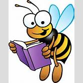 Books bee with book clipart