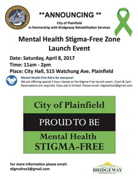c section mental health plainfield s mental health stigma free zone launch event