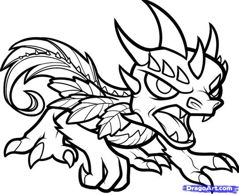 skylanders dragons coloring pages step 9 how to draw camo skylanders
