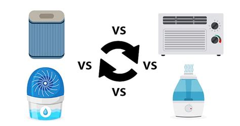 whats  difference air purifier  air conditioner  humidifier  dehumidifier whats