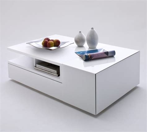 White Storage Coffee Table by Davos Coffee Table High Gloss White With Multi Storage