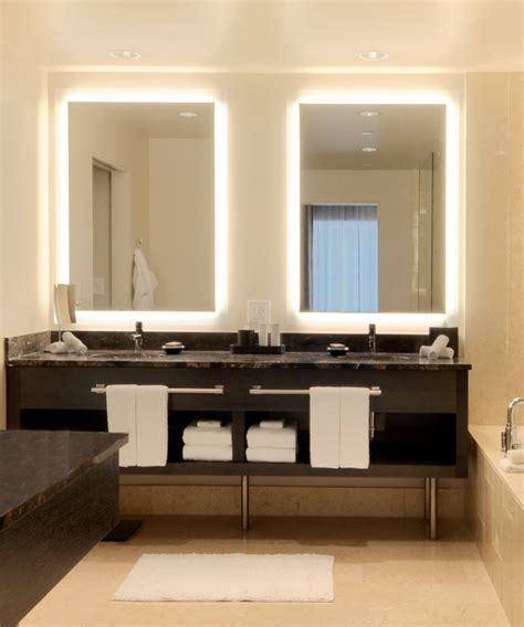 Bathroom Mirror Designs silhouette lighted mirror electric mirror