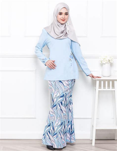 Baju Kurung Moden Electric Blue baju kurung moden pandora pucci baby blue lovelysuri