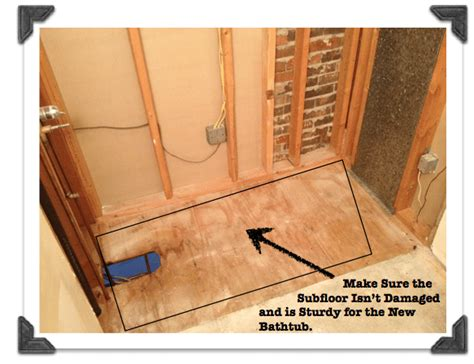 how to instal a bathtub diy bathroom remodeling phase 1 how to install a new bathtub