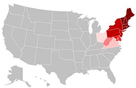 usa map northeastern states image gallery northeast states