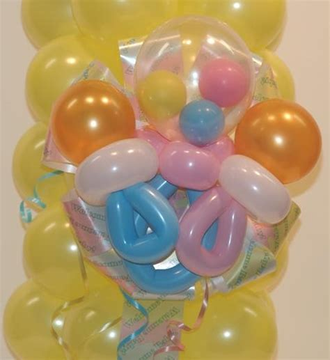balloon pacifier for baby shower pacifier balloons for baby shower and rattle in back