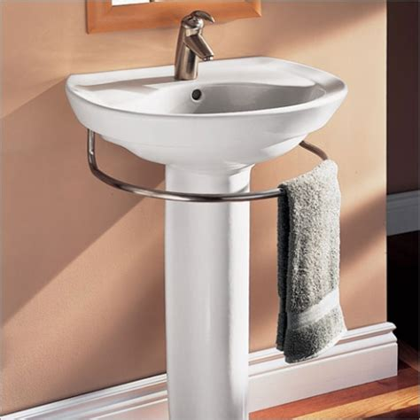 Pedestal Sink Rack hardware that saves space with style the sink with towel bar
